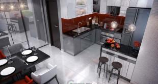 Thiết kế bếp biệt thự quận 2
